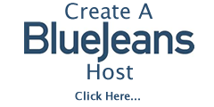 Create A Blue Jeans Host