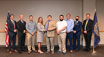 FBI Presents UNF Information Technology Services with FBI Director's Award